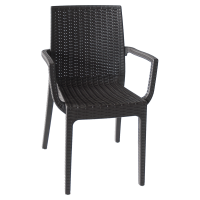 Dafne Chair w/Arm Black